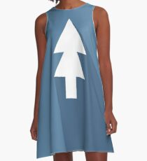 Minimalist Gravity Falls - Dipper A-Line Dress