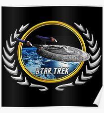 Star trek Federation of Planets Enterprise sovereign E Poster