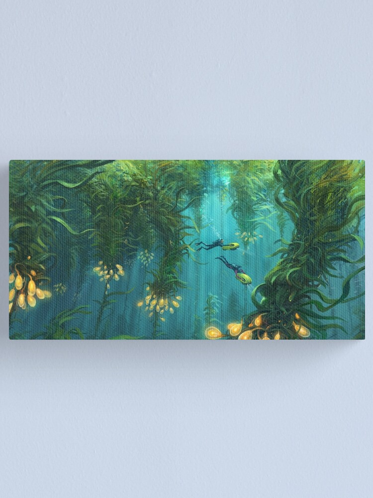 Alternate view of Exploring the Kelp Forest Canvas Print
