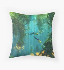 Exploring the Kelp Forest Throw Pillow