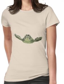 Green sea turtle  Womens Fitted T-Shirt