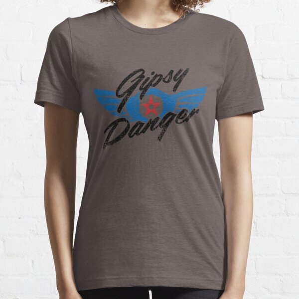 Gipsy Danger Distressed Logo in Black Essential T-Shirt