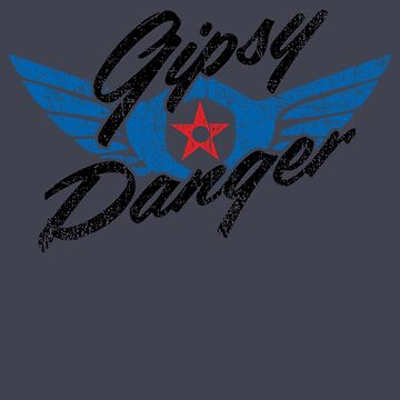 Gipsy Danger Distressed Logo in Black by TheBatchild