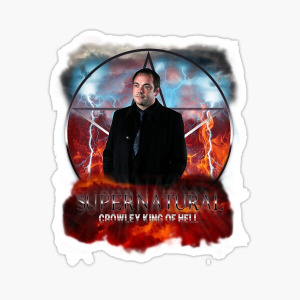 Supernatural Crowley King of Hell Sticker