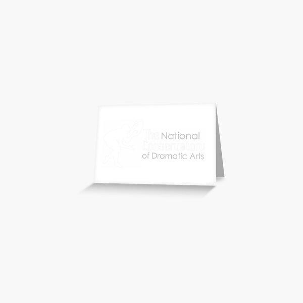 NCDA Full White Logo Greeting Card