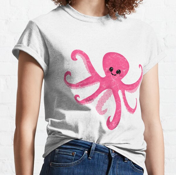 Pinky Baby Octopus by Creative Bee Studios Classic T-Shirt