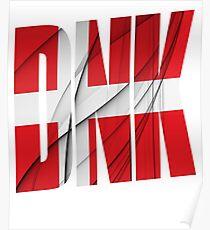 DNK - Danmark Flag Poster