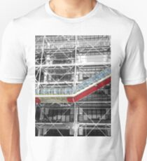 Red Slash no. 3, Centre Pompidou T-Shirt