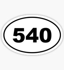 540 Area Code Sticker