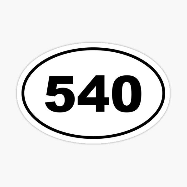 540 Area Code Sticker