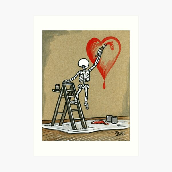 Paint The Love Art Print