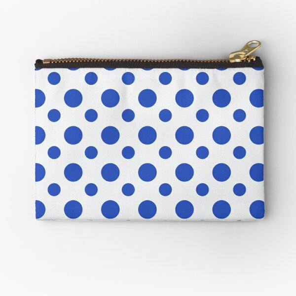 Blue and White spotty zipped pouch