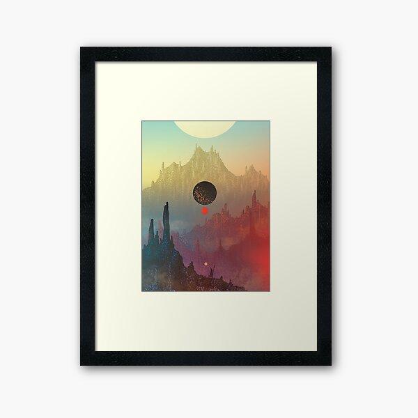 Der kosmische Tagtraum Gerahmter Kunstdruck
