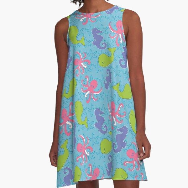 Seashore Friends by Creative Bee Studios A-Line Dress