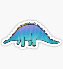 cute blue rainbow dinosaur  Sticker