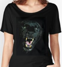 Black Panther Face Women's Relaxed Fit T-Shirt