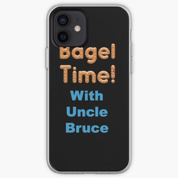 Bagel Time With Uncle Bruce with the transparent background iPhone Soft Case