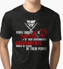 V FOR VENDETTA GUY FAWKES CONSPIRACY QUOTE  Tri-blend T-Shirt