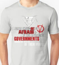 V FOR VENDETTA MOVIE GUY FAWKES CONSPIRACY QUOTE  T-Shirt