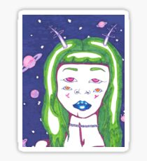 Alien Girl Sticker