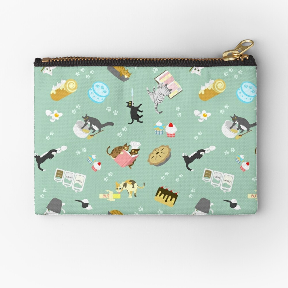 Cats Baking Cakes and other Sweets Zipper Pouch