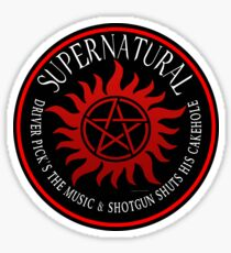 Supernatural Driver pricks the music  Sticker