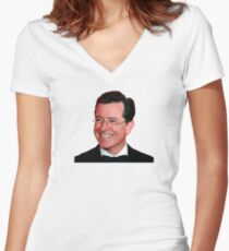 Stephen Colbert Women's Fitted V-Neck T-Shirt