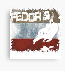 NEW FEDOR EMELIANENKO THE LAST EMPEROR RUSSIAN FLAG  Canvas Print