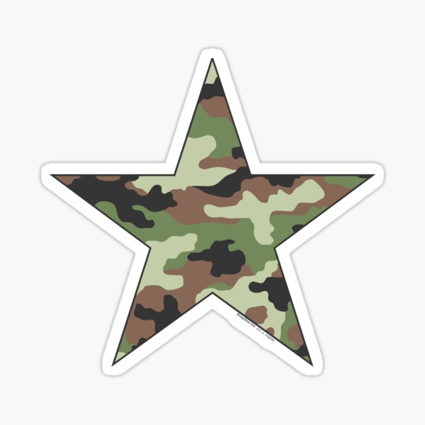 Camouflage Military Star Sticker