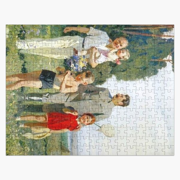 Stalin and Molotov with children, 1947. Artist: Yefanov, Vasili Prokofyevich (1900-1978) Stalins cult of personality #Сталин #ИосифВиссарионович #Ежов #Берия #Жданов #Молотов #Ленин #ГУЛАГ Jigsaw Puzzle
