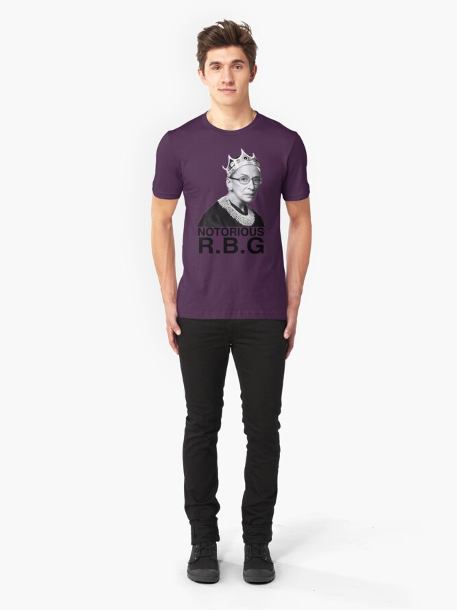 Alternate view of notorious rbg Slim Fit T-Shirt