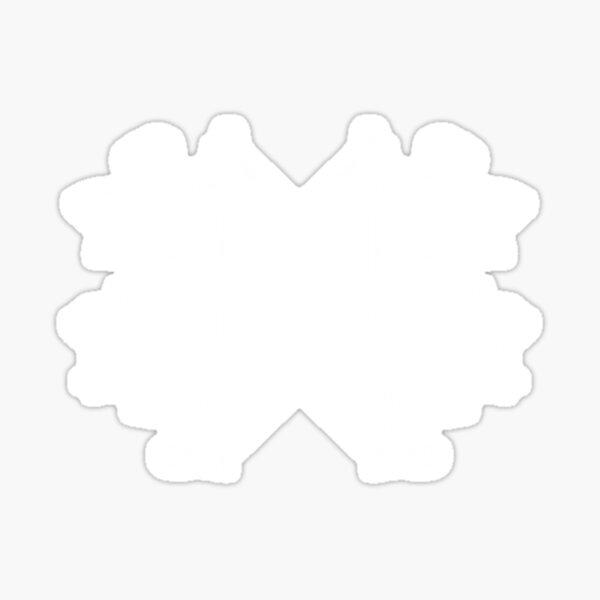 Bureau of Balance floral - transparent white Sticker
