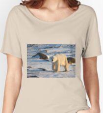 Polar Bear on the Tundra, Churchill, Canada  Women's Relaxed Fit T-Shirt