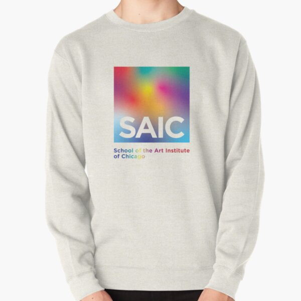 School of the Art Institute of Chicago Rainbow Gradient Logo  Pullover Sweatshirt