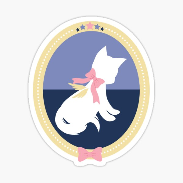 Angel Starlight Playful Cat Sticker
