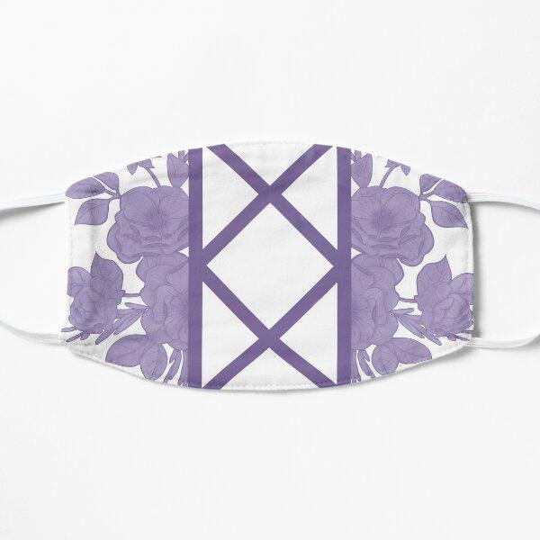 Bureau of Balance floral - Lavender  Flat Mask