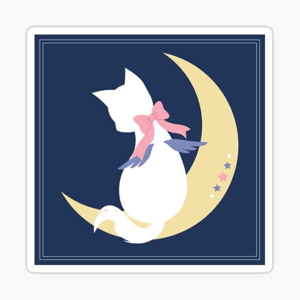 Angel Starlight Cat on the Moon Sticker