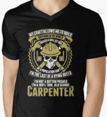 Carpenter - Old School Carpenter Men's V-Neck T-Shirt