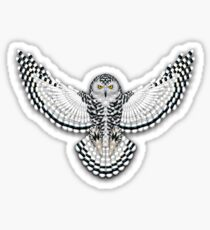 Beadwork Snowy Owl Sticker