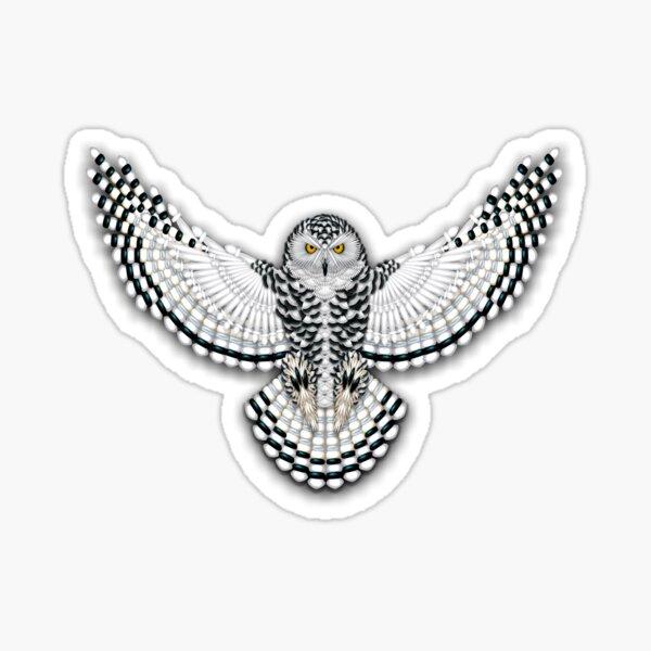 Beadwork Snowy Owl Sticker