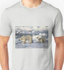Polar Bear & Cub Walking on the Tundra, Churchill, Canada T-Shirt