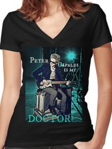 Peter Capaldi Is My Doctor Women's Fitted V-Neck T-Shirt