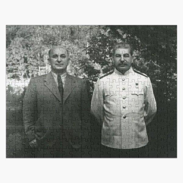 Stalin Beria Сталин Берия mature adult standing suit  Jigsaw Puzzle