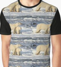 Standing Guard Over Her Cub, Churchill, Canada  Graphic T-Shirt