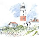 Low Head Lighthouse by Muriel Sluce by Wendy Dyer