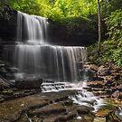 Idyllic Cascade - West Milton, Ohio by Kenneth Keifer