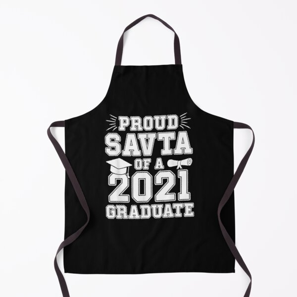 Proud Savta Of A 2021 Graduate Graduation Hebrew Grandma  Apron