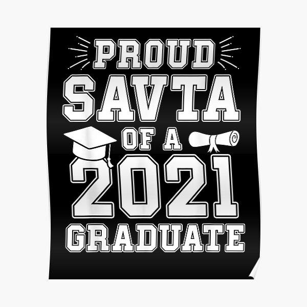 Proud Savta Of A 2021 Graduate Graduation Hebrew Grandma  Poster