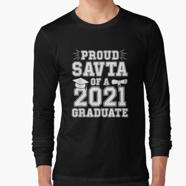 Proud Savta Of A 2021 Graduate Graduation Hebrew Grandma  Long Sleeve T-Shirt