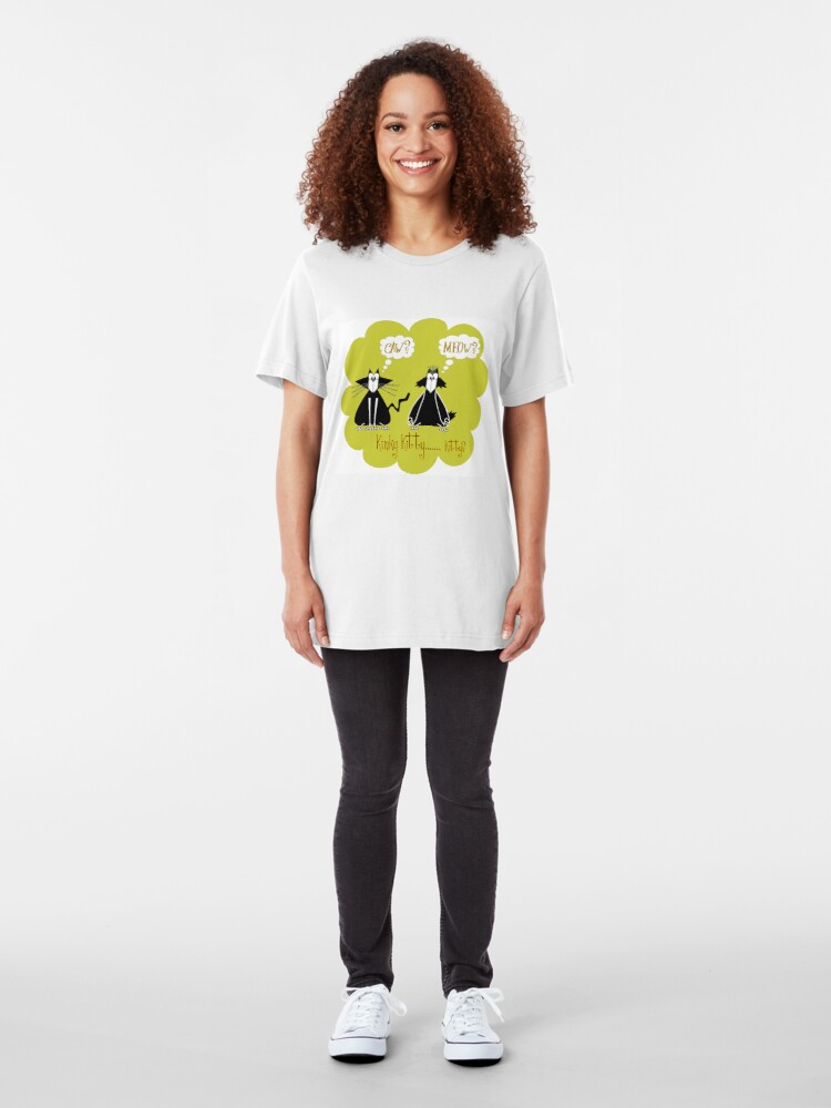 Alternate view of Kinky... Kitty? Slim Fit T-Shirt